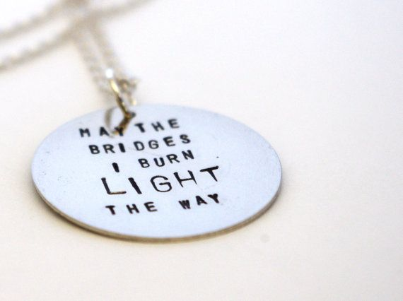 sted metal jewelry inspirational necklace by tabbycatdesign