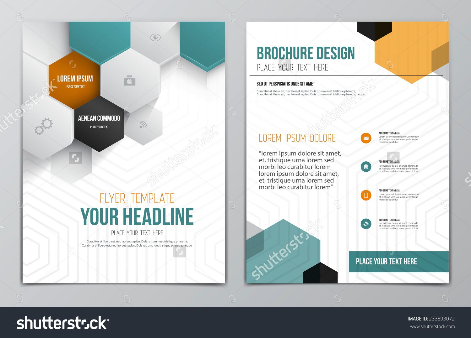 Brochure Design Template Geometric Shapes Abstract Modern - Brochures design templates