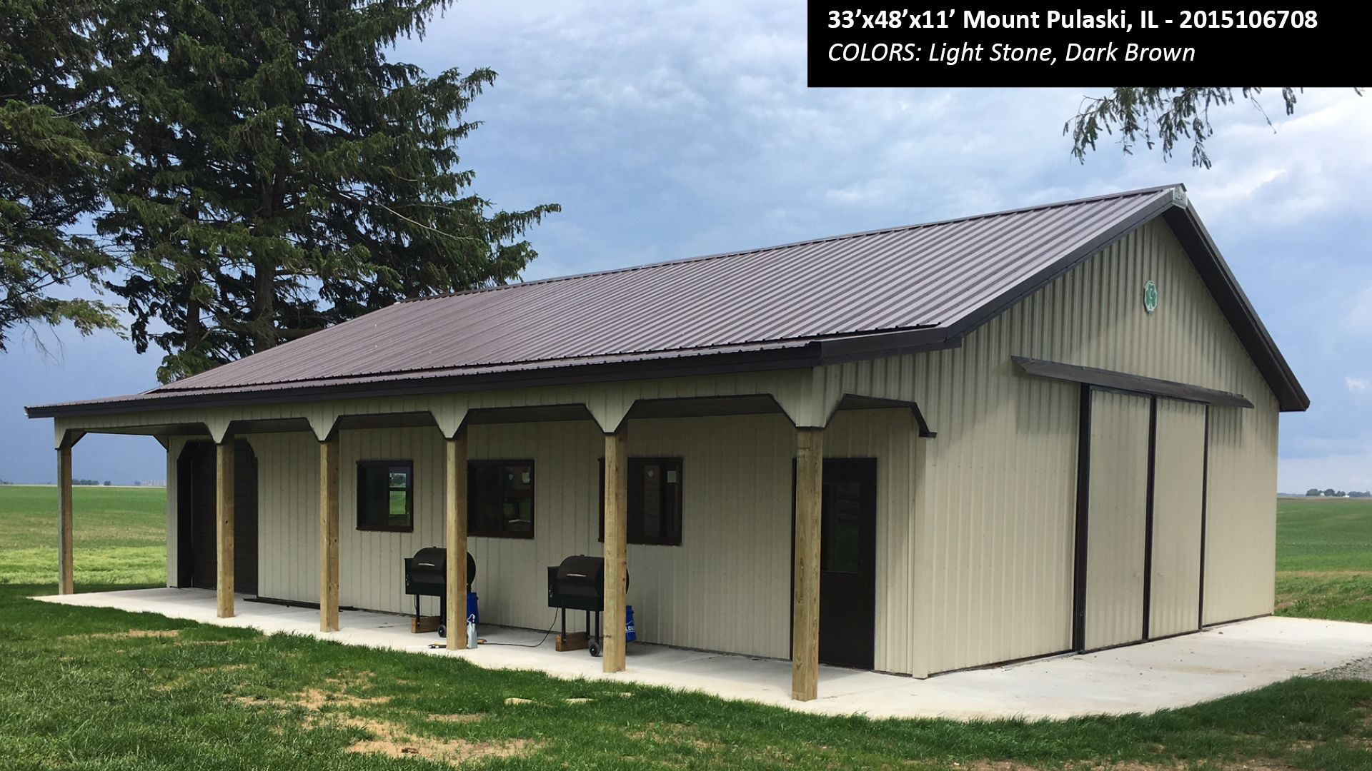 33 X48 X11 Cleary Suburban Energy Miser Building In Mount Pulaski Il Colors Light Stone Dark Brown Cleary Buildings Barns Sheds Building