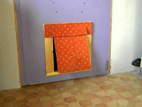 fabrication artisanale chati re pour chien tutoriels diy pinterest chatiere. Black Bedroom Furniture Sets. Home Design Ideas