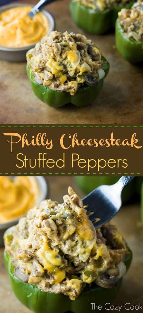 These Philly Cheesesteak Stuffed Peppers Are Loaded With