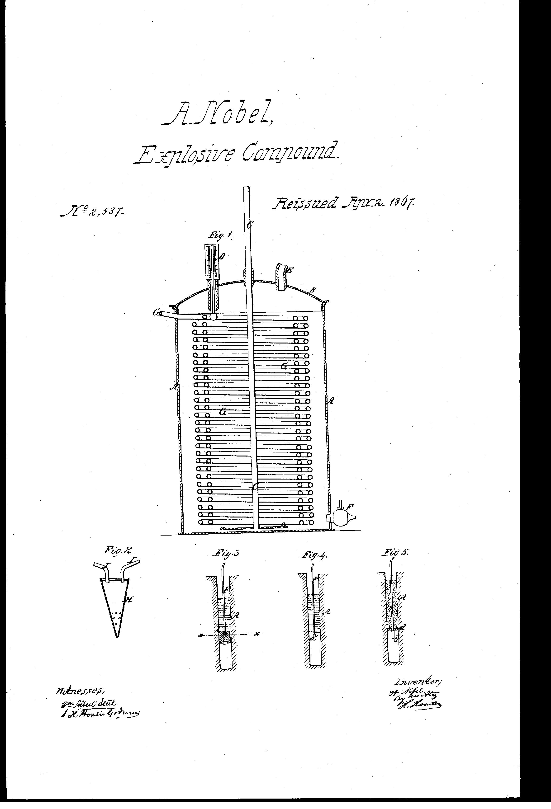explosive compound alfred nobel (1867) patent usre2537 dynamiteexplosive compound alfred nobel (1867) patent usre2537 dynamite!