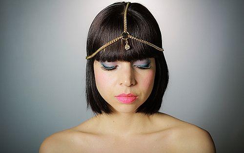 Grecian style chain headband with swarovski charm