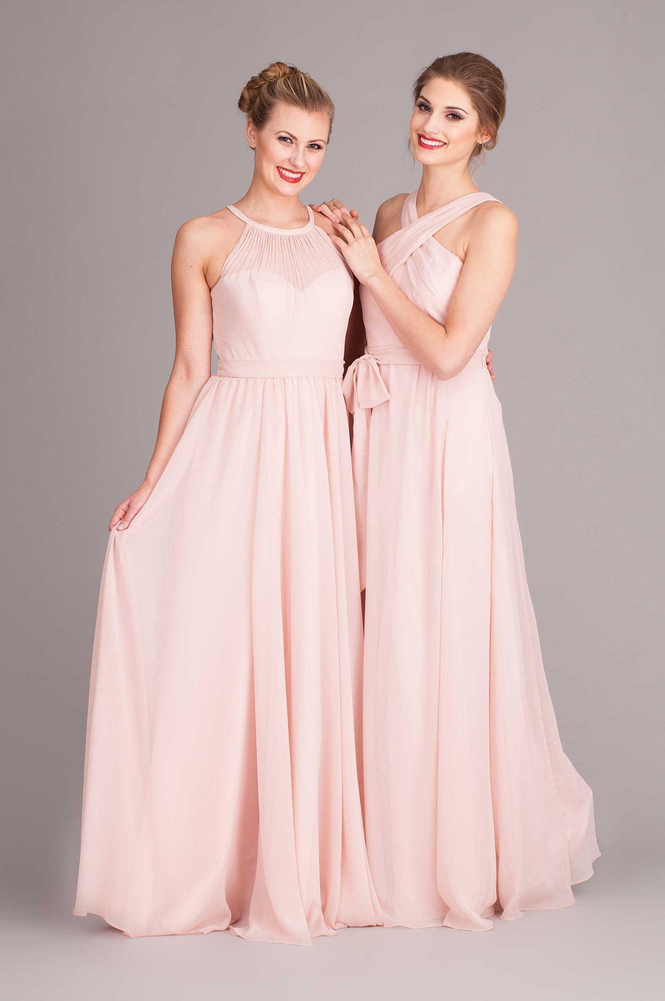 New Kennedy Blue Blush Bridesmaids Dresses #KennedyBlue #Blush #Bridesmaids
