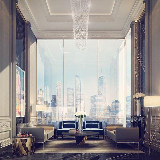 Contemporary Interior Design Dubai: Lounge Design - Burj Khalifa Boulevard- Dubai - UAE