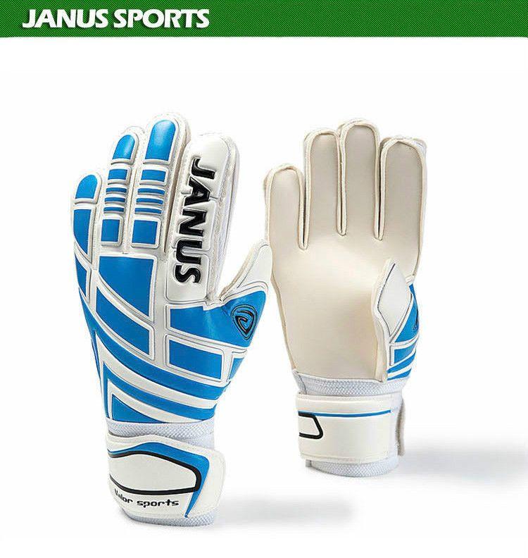 Football gloves youth receiver gloves medium blue white