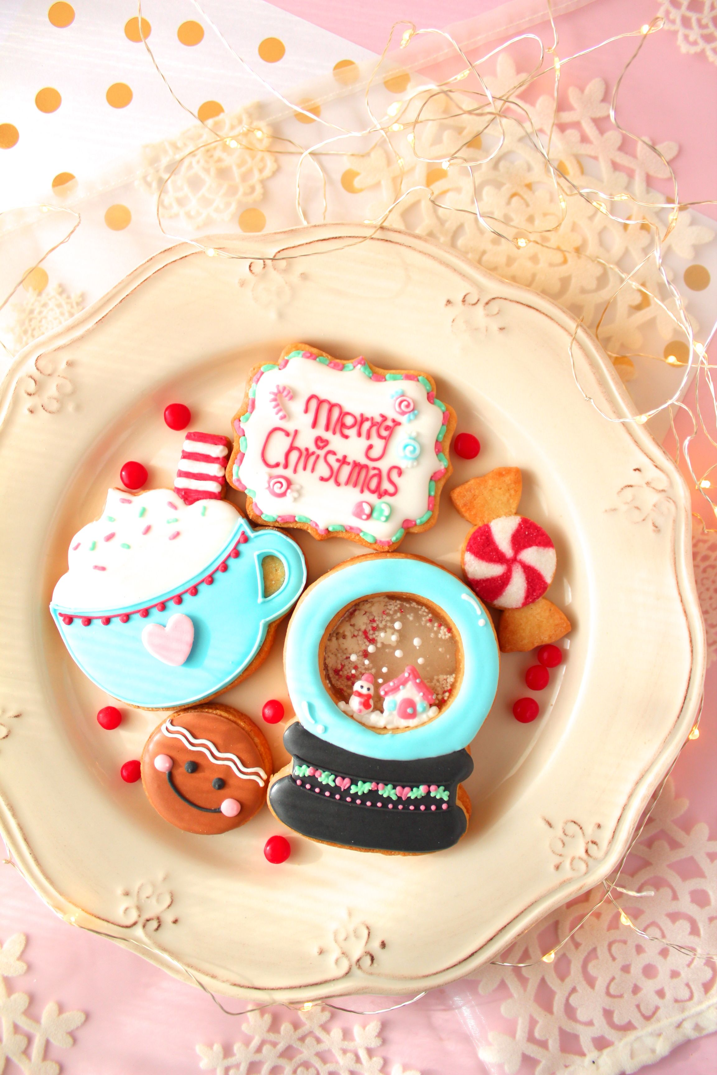 Snow globe cookie icing cookie class