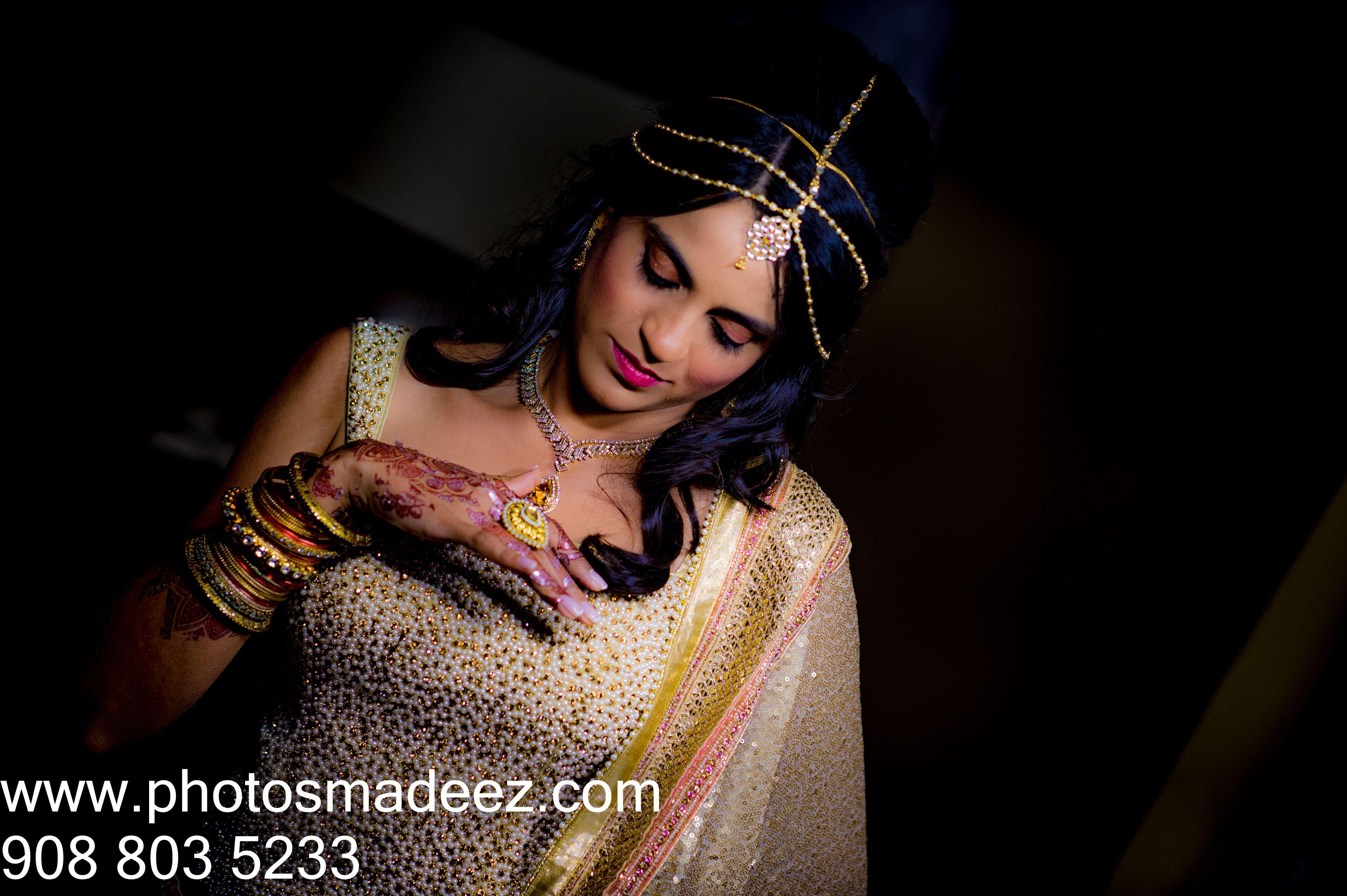 Bride Portrait At Mixed Wedding In Connecticut Gujarati Italian Groom Center