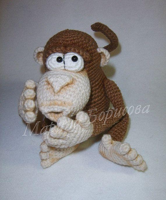Funny Monkey Crochet Pattern amigurumi PDF | Pinterest | Patrones ...