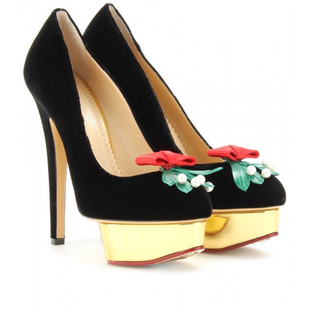 mytheresa.com - Charlotte Olympia - KISS ME DOLLY PLATFORM PUMPS - Luxury  Fashion for. Pumps HeelsShoes ...