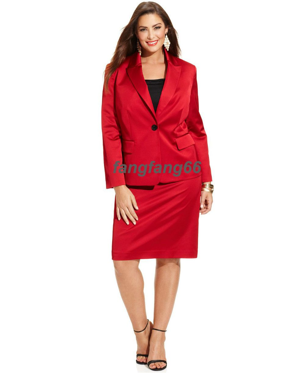 women in red suite | -Made-Suit-Plus-Size-Red-Women-Suits-Boutique ...