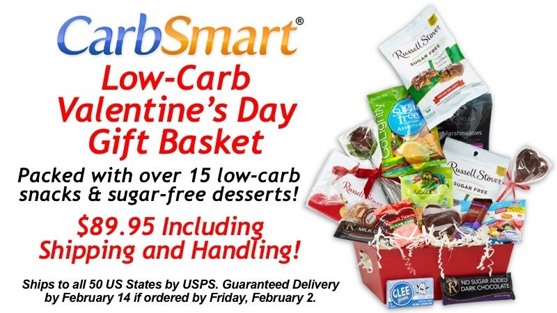Valentines day can be hard for the low carbers in your life but but the carbsmart low carb valentines day gift basket makes their holiday a lot sweeter packed with low carb snacks and sugar free desserts negle Images