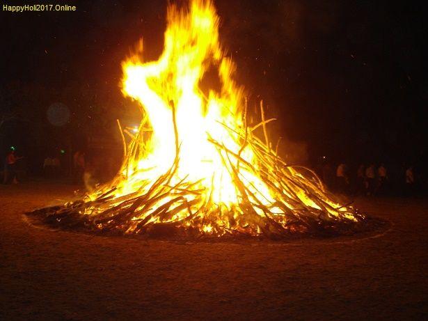 Happy Choti Holi Celebration (Holika Dahan - Bonfire)