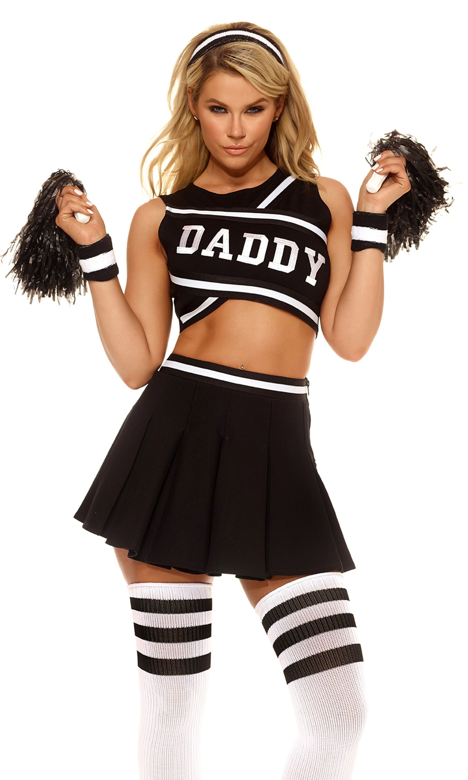 youll definitely secure a sugar daddy this halloween with our sexy daddys girl cheerleader - Naughty Girl Halloween Costumes