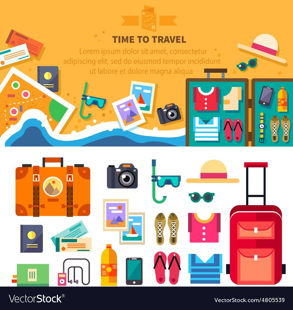 Time to travel Royalty Free Vector Image  VectorStock