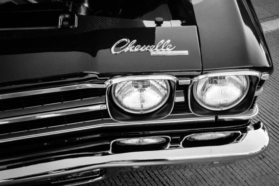 Chevy Chevelle, Car Photography , Automotive, Classic Car, Muscle Car, Fine Art Photography, Black and White,Boys room, Decor, Kids