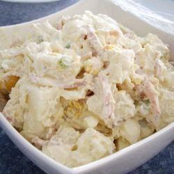 Aardappelsalade met spek en ei @ allrecipes.nl