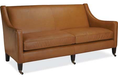 Lee Industries L3076 03 Leather Sofa 74x36x36 San Ben Sofas
