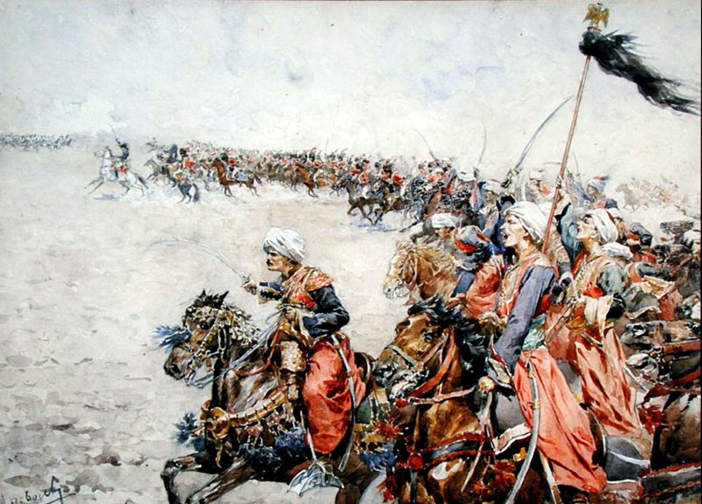 Charge Of The Memluks In The Battle Of Austerlitz Military Art Military Artwork Historical Art
