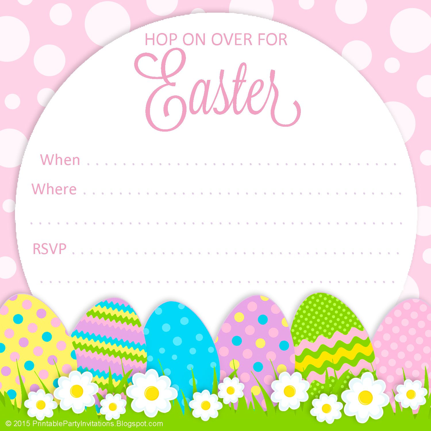 easter egg hunt free printable invitation - print however many you, Party invitations