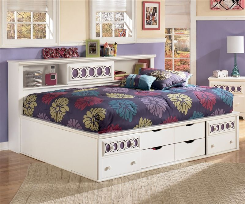 Great Zayley Bookcase Storage Bed Full Size