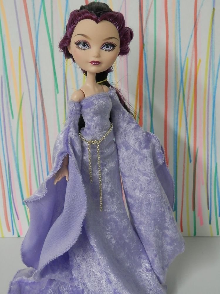 Clothes Outfit for YOUR Ever After High Doll EAH-Medieval Lavender Gown Set