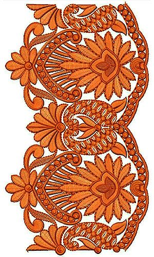 Crochet Lace Embroidery Design