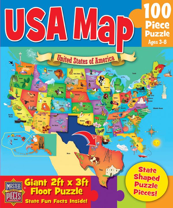 Usa Map Floor Puzzle: Giant Usa Map Puzzle At Infoasik.co