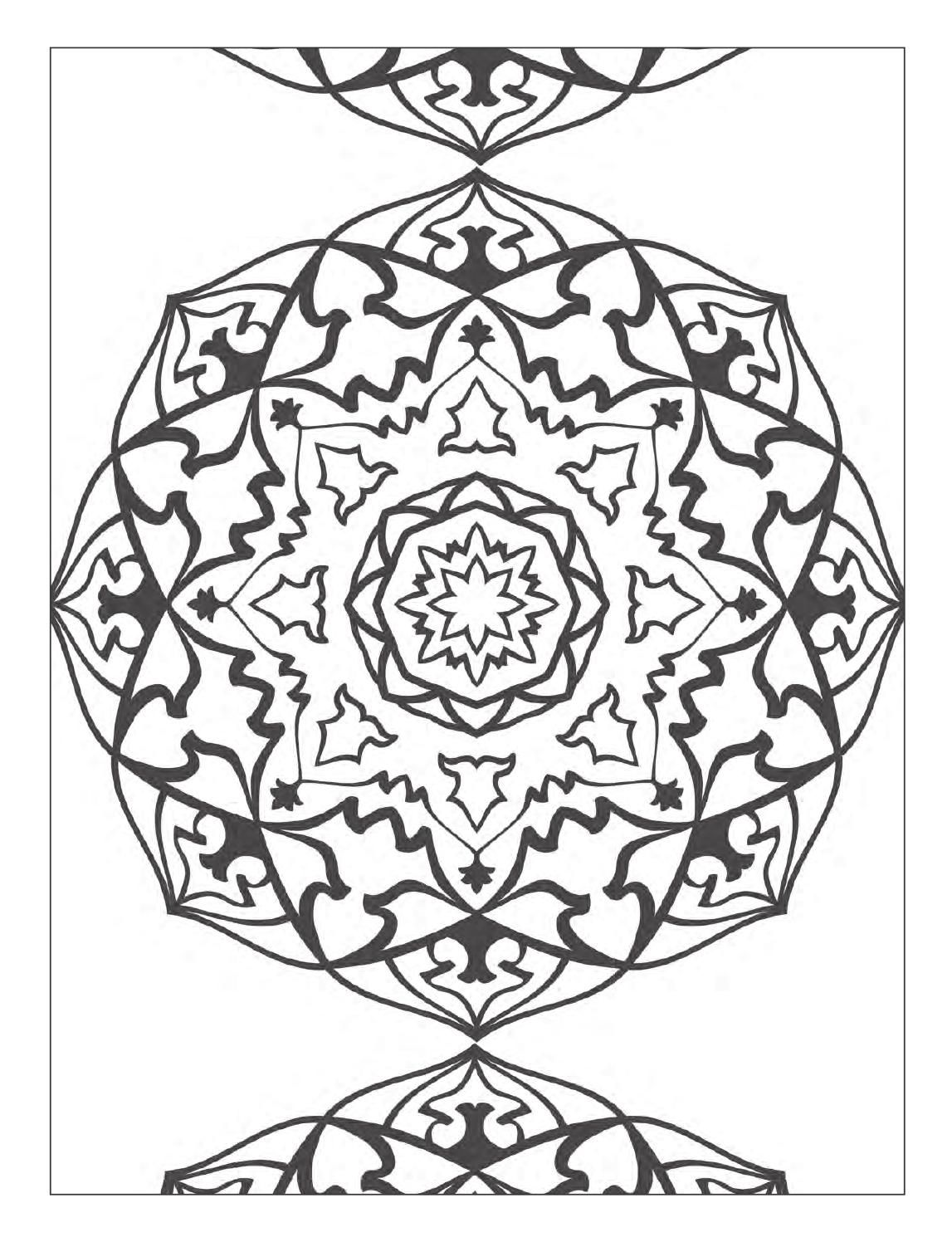 Coloring book adult meditation stress - Yoga And Meditation Coloring Book For Adults With Yoga Poses And Mandalas