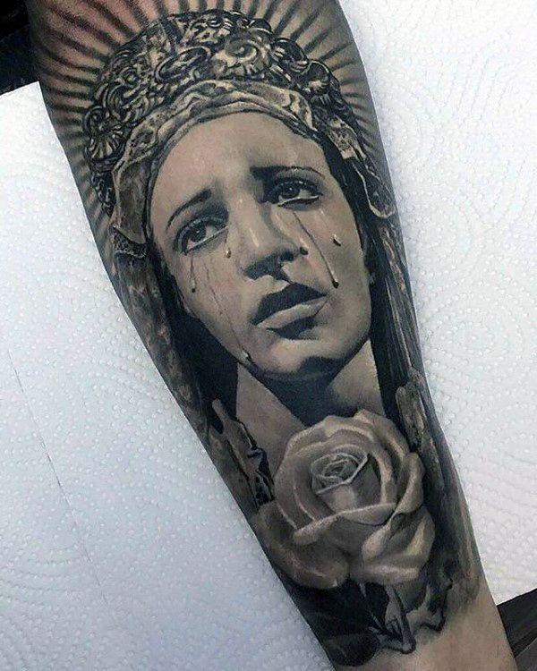 983b5f5fb 100 Virgin Mary Tattoos For Men - Religious Design Ideas   Tattoo ...