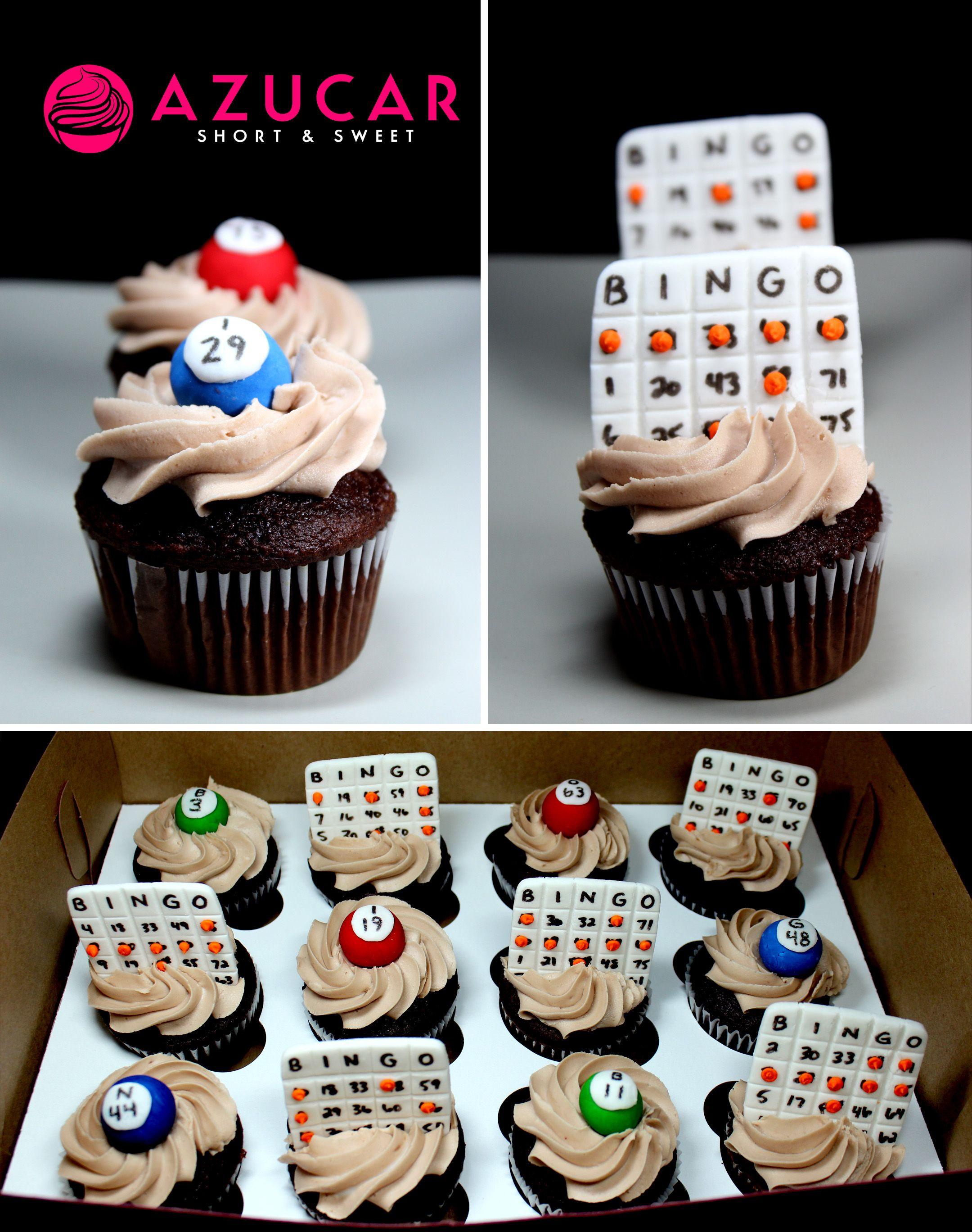 Bingo Themed Cupcakes With Images Themed Cupcakes Bingo Cake