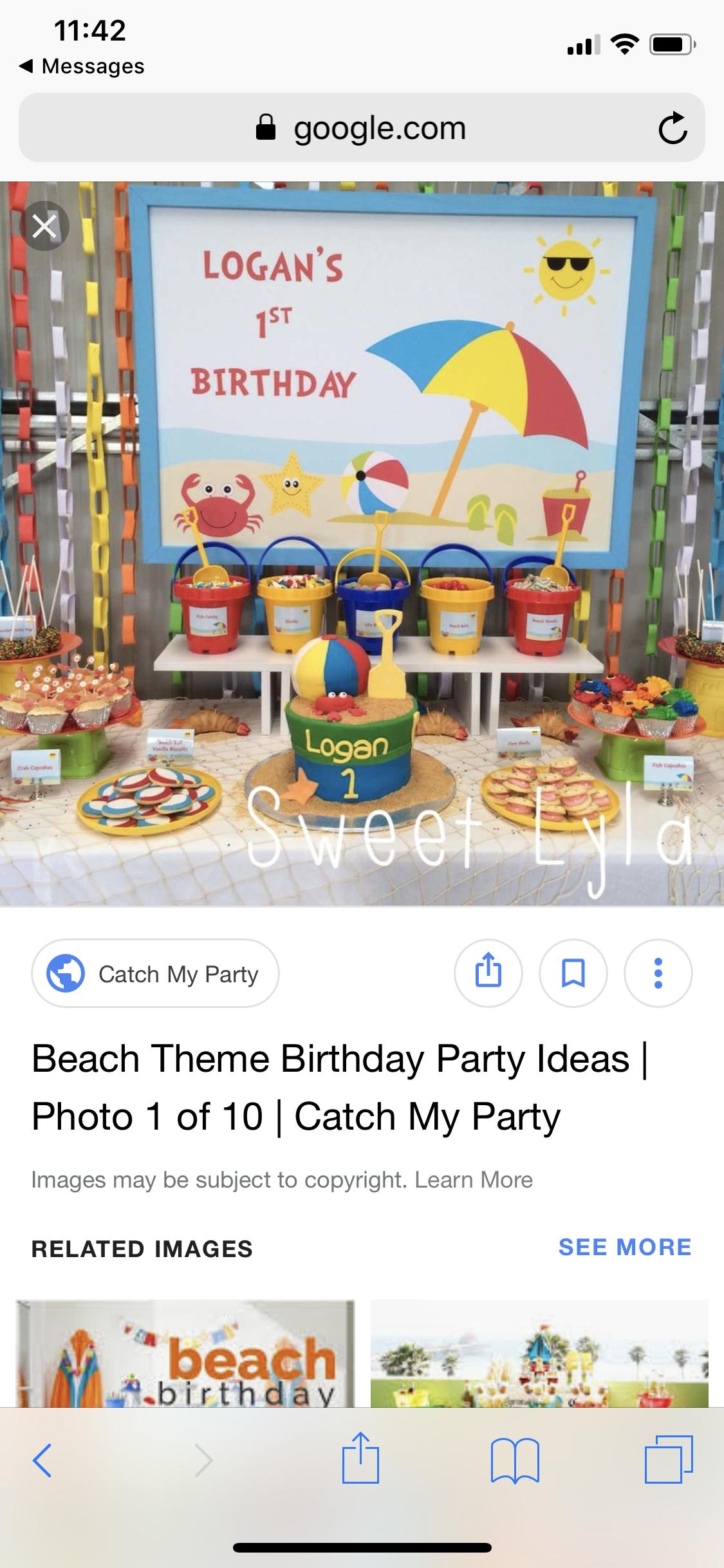 Beach Party Beach theme birthday party, Beach theme