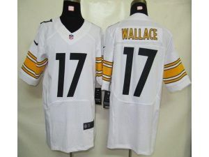 85d3a8de2 ... Nike NFL Elite Steelers 17 Mike Wallace White Mens Stitched Jersey Nike  Game Womens ...
