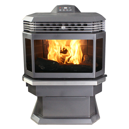 Bay Front Pellet Stove With Igniter Pellet Stove Stove Small Wood Burning Stove