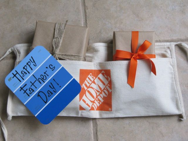 Wrap Father's Day presents in brown paper and tuck into a ...