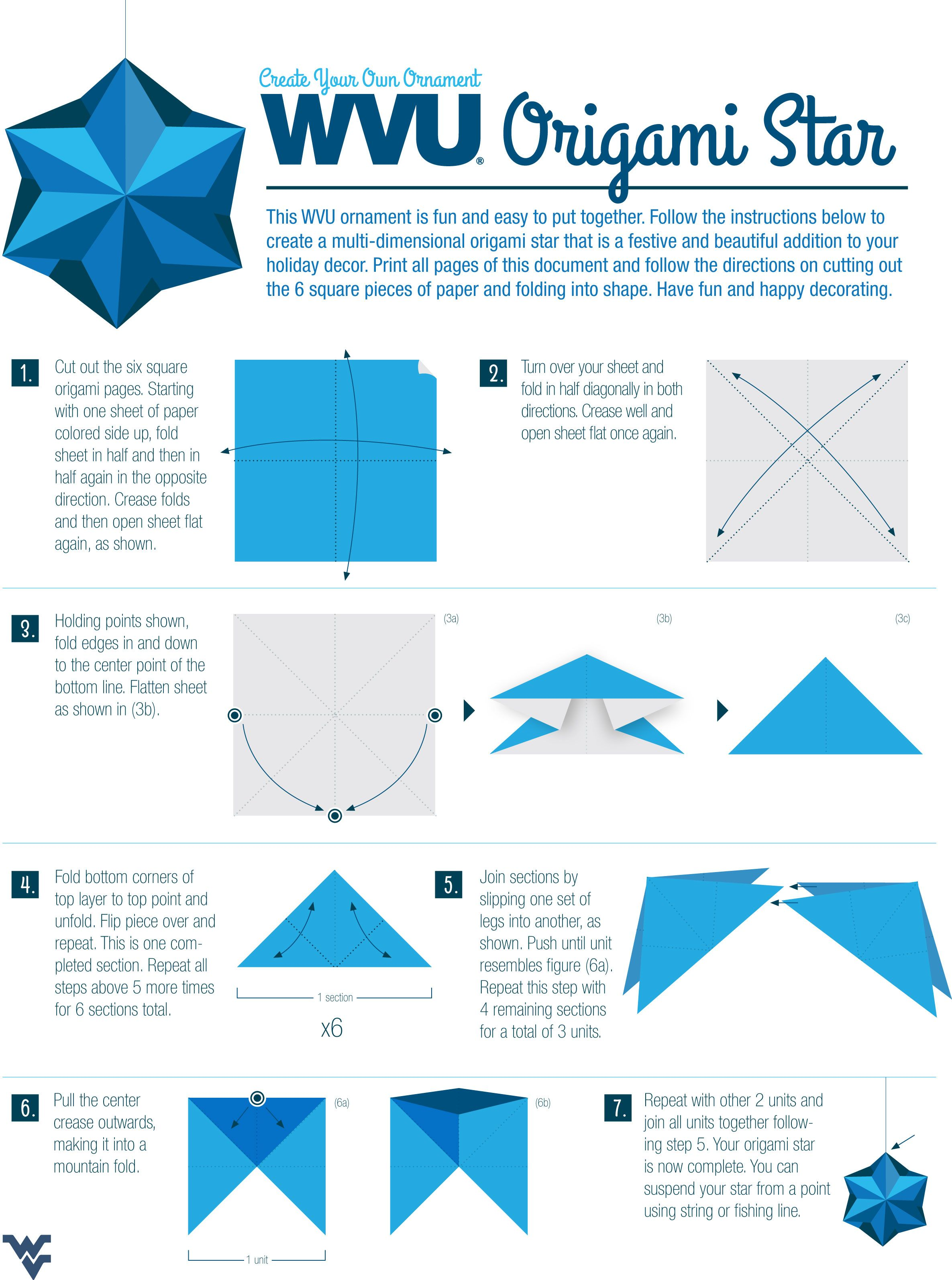 Download Instructions For Making A Wvu Origami Star