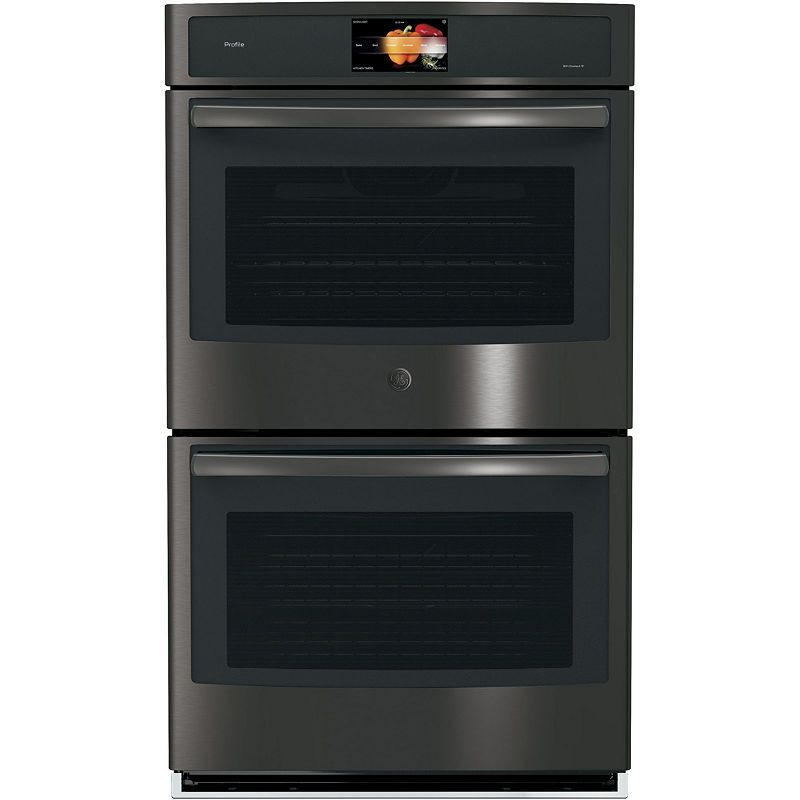 GE 30 Black Stainless Steel Built-In Convection Single Wall Oven