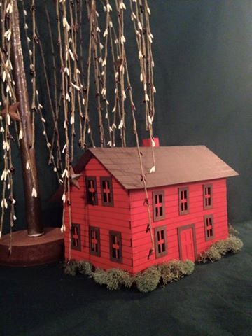 AgedWithThyme's tiny putz saltbox house kit is especially cute. I love that colonial look.  http://tidd.ly/b64551c7   affiliate link