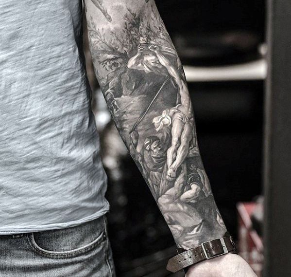 60 Detailed Tattoos For Men Intricate Ink Design Ideas Forearm Sleeve Tattoos Ship Tattoo Sleeves Tattoos For Guys