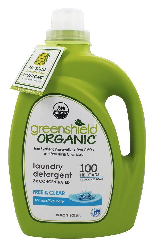 Organic Laundry Detergent Free Clear 100 Fl Oz Go By
