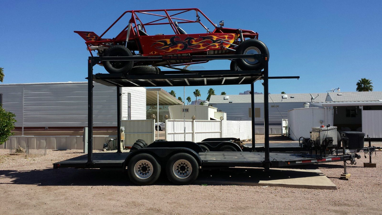Trailer double deck stacker double deck rv and camping for Ebay motors car trailers