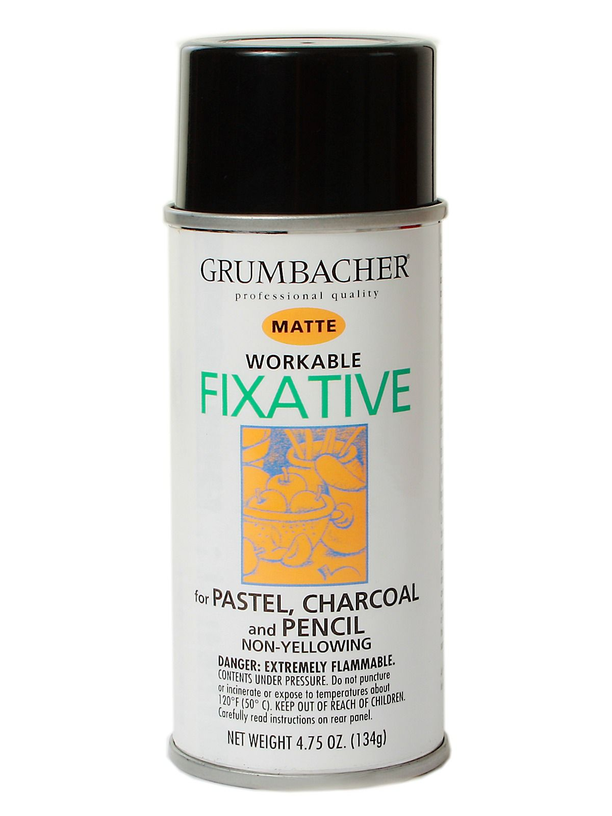 non glossy matte fixative for pastel charcoal and pencil created