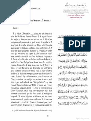 7 La Famille D Amram Al Imran Les Interpretations Esoteriques Du Coran La Fatihah Et Les Lettres Isolees Qashani Trad Mich Coran Exercices Spirituels Lecture