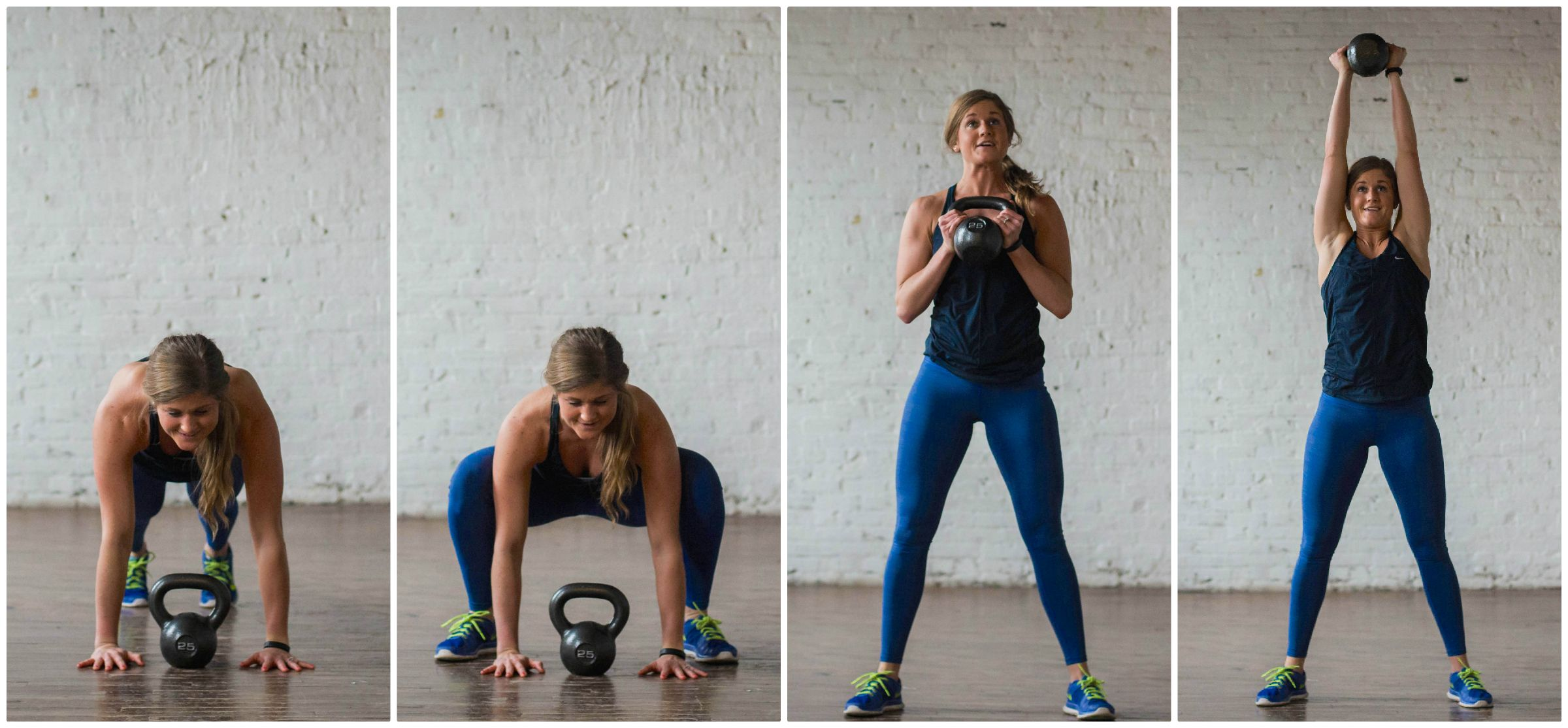 7 CalorieTorching Kettlebell Moves {HIIT workout} (With