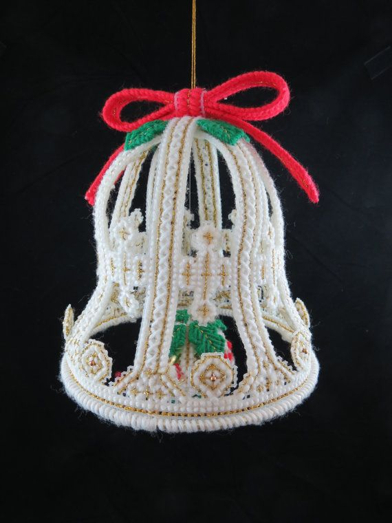vintage plastic canvas christmas bell plastic canvas bell christmas bell decoration large christmas bell free shipping 4htt15 vintage christmas - Large Christmas Bells Decorations