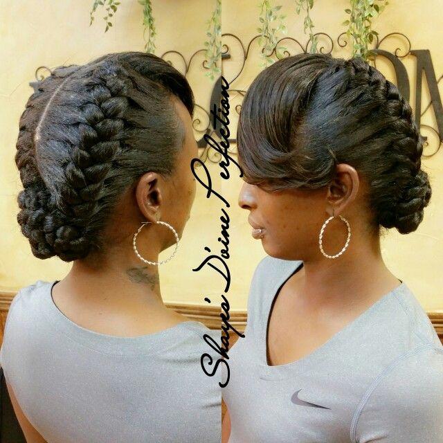Goddess Braids Bangs Shekeepsmylaughing Arlingtonstylist Shayedandslayed Book Now 817 714 8382 Ww Hair Styles Natural Hair Styles Braided Hairstyles