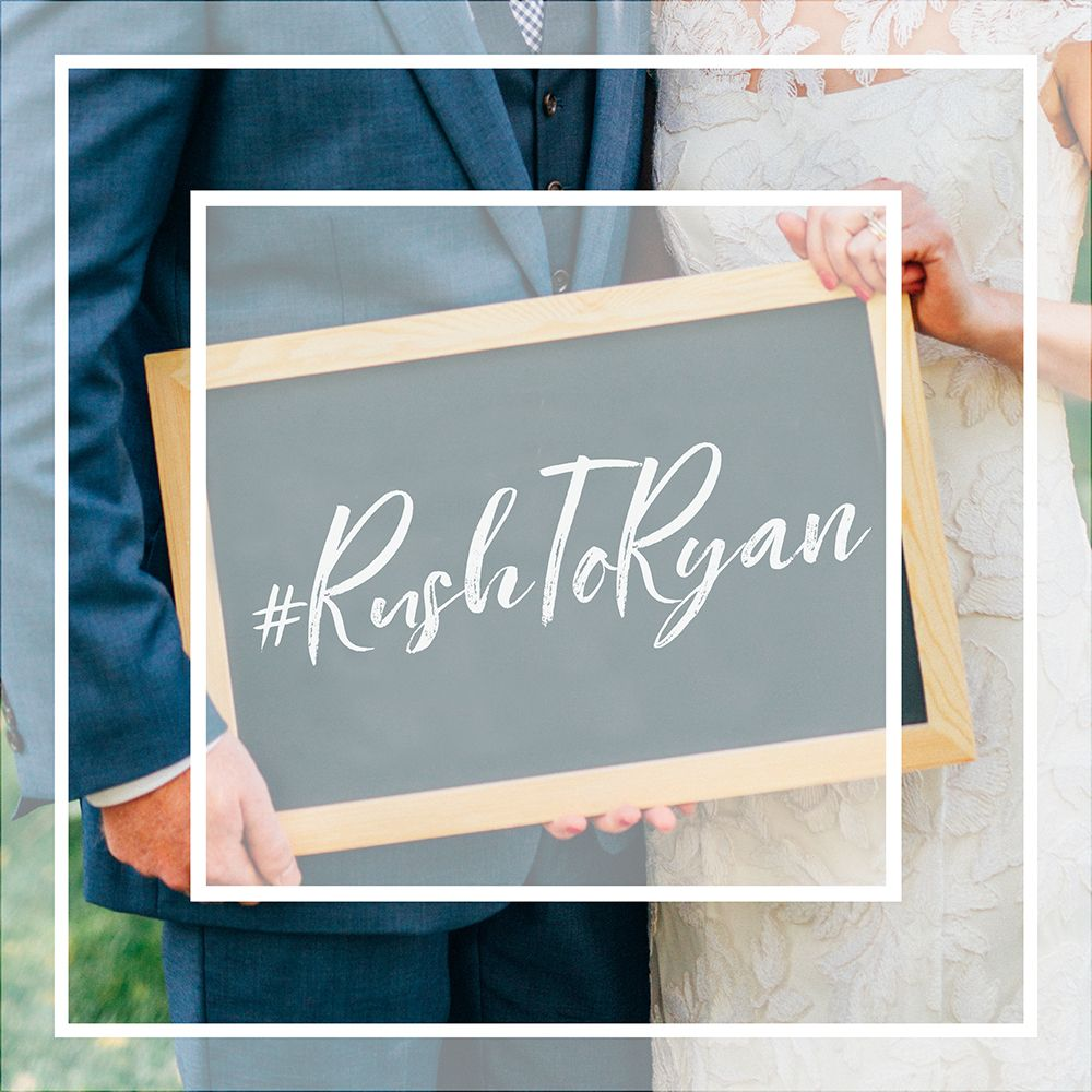 4 unique places to put your wedding hashtag so your guests