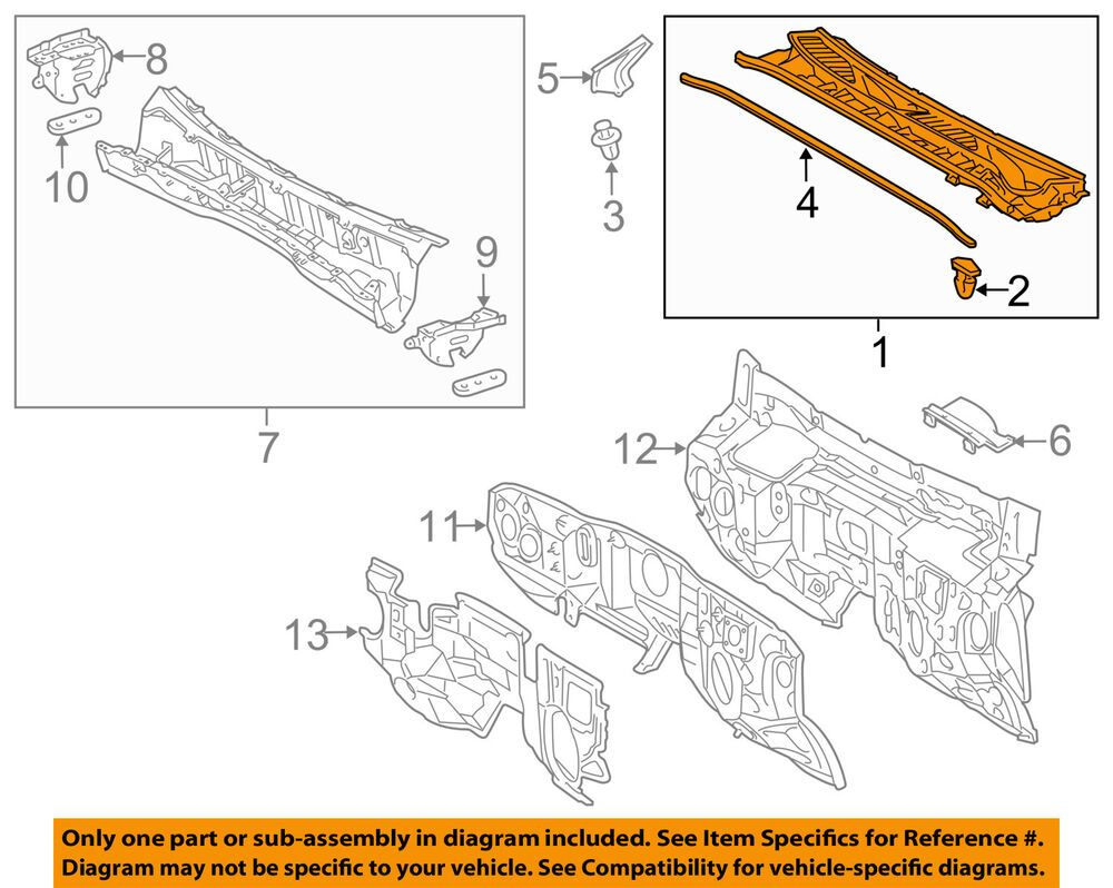 Details about TOYOTA OEM 1016 4RunnerCowl Panel