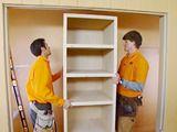 How to build a closet shelving unit to de-clutter the space