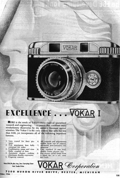 Vokar Vokar II Vintage cameras collection by Sylvain Halgand - sample resume for photographer